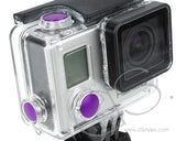 GoPro Aluminum Button Set for Hero 3+ Camera Housing - Purple
