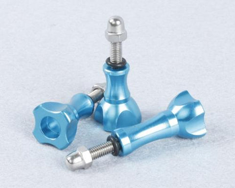 GoPro Stainless Knob Screw Bolt Nut Set for All Hero Cameras - Blue