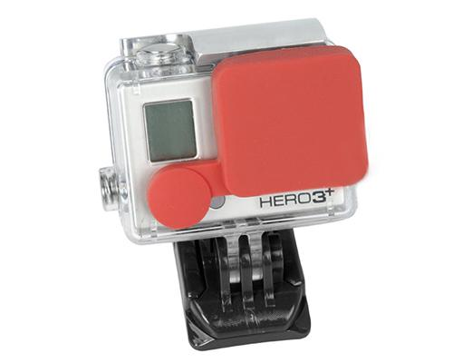 GoPro Lens Protective Silicone Cap for Hero 3+ Camera Housing - Red