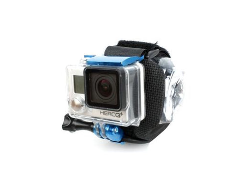 GoPro Wrist Strap Band Mount w/Snap Latch for Hero 3+/4 Camera - Blue