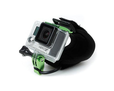 GoPro Wrist Strap Band Mount w/Snap Latch for Hero 3+/4 Camera - Green
