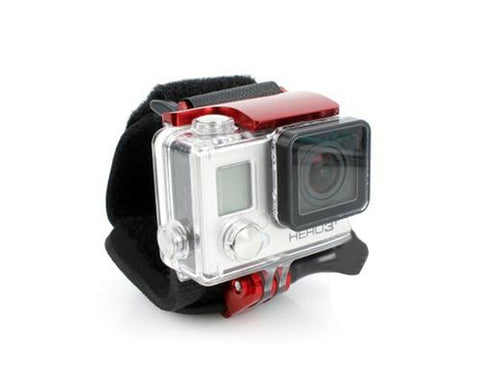GoPro Wrist Strap Band Mount w/Snap Latch for Hero 3+/4 Camera - Red