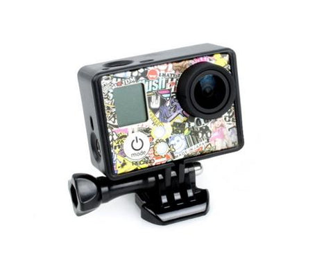 GoPro Border Standard Frame Mount for Hero 3 / 3+ / 4 Camera - Black