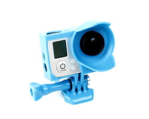 GoPro Lens Hood Housing Frame Mount for Hero 3 / 3+ / 4 Camera - Blue