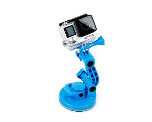 GoPro Adjustable Windshield Suction Cup Mount for Hero Camera - Blue