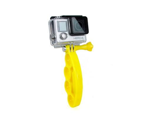 GoPro Finger Grip Holder Stabilizer Mount for Hero Camera - Yellow