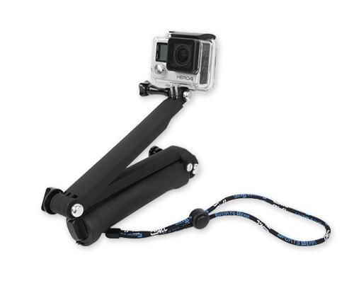 GoPro 3-Way Adjustable Extension Arm Grip Tripod for Hero Camera-Black
