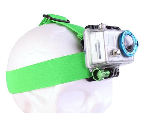 GoPro Head Strap Mount for Hero 1 Hero 2 Hero 3 Hero 3+ Cameras -Green