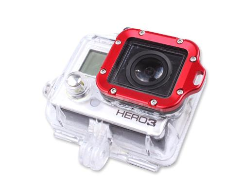 GoPro Aluminum LANYARD RING Mount for Hero 3 Black Edition - Red