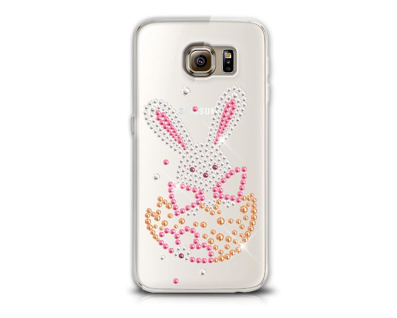 Easter Rabbit Easter Rabbit Bling Swarovski Crystal Phone Case - Bunny Transparent