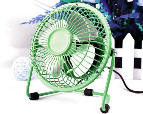 Ultra-quietness Aluminum Laptop PC Mini USB Plug Charger Fan-Green