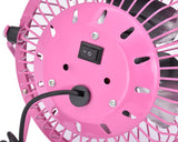 Ultra-quietness Aluminum Laptop PC Mini USB Plug Charger Fan-Pink