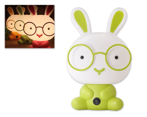 Cute Cartoon Nursery Night Light-Green Rabbit