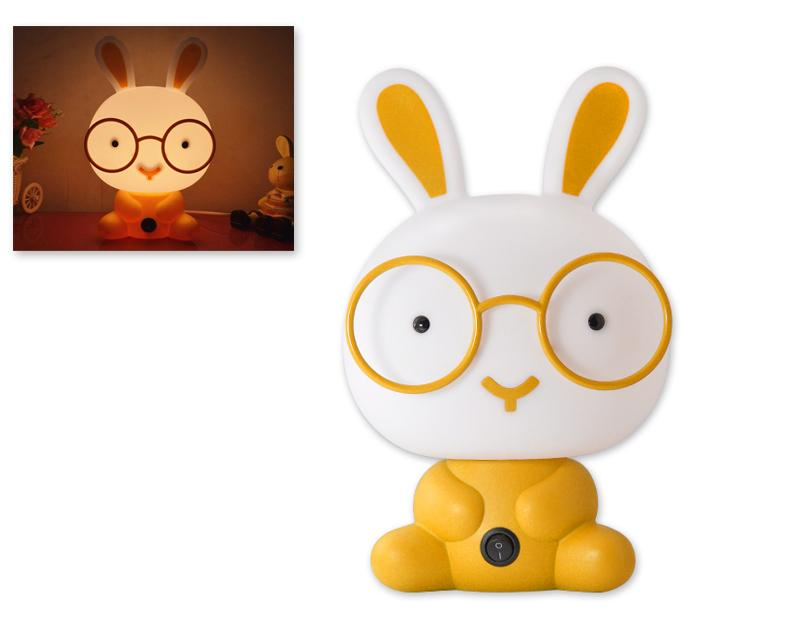 Cute Cartoon Nursery Night Light-Yellow Rabbit