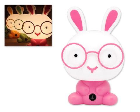 Cute Cartoon Nursery Night Light-Pink Rabbit
