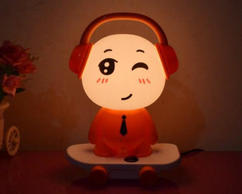 Cute Kid Cartoon Table Desk Home Switch Night Lamp Light- Orange DJ