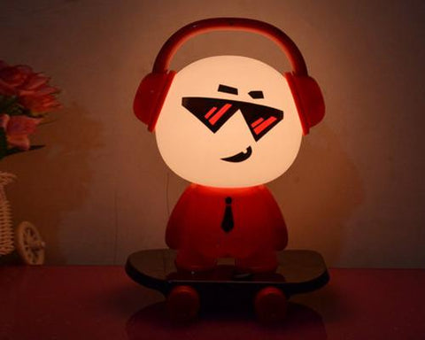 Cute Kid Cartoon Table Nightlight-Red DJ