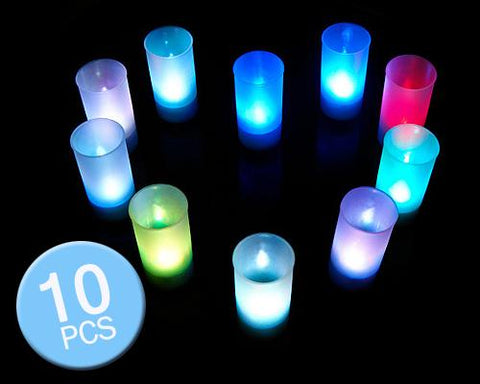 10 Pcs Voice Control Color Changing LED Candle Lights