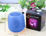 Voice Control LED Candle Night Light - Blue