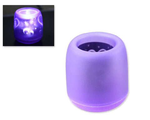 Voice Control LED Candle Night Light - Purple