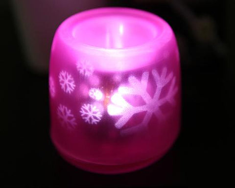 Voice Control LED Candle Night Light - Pink