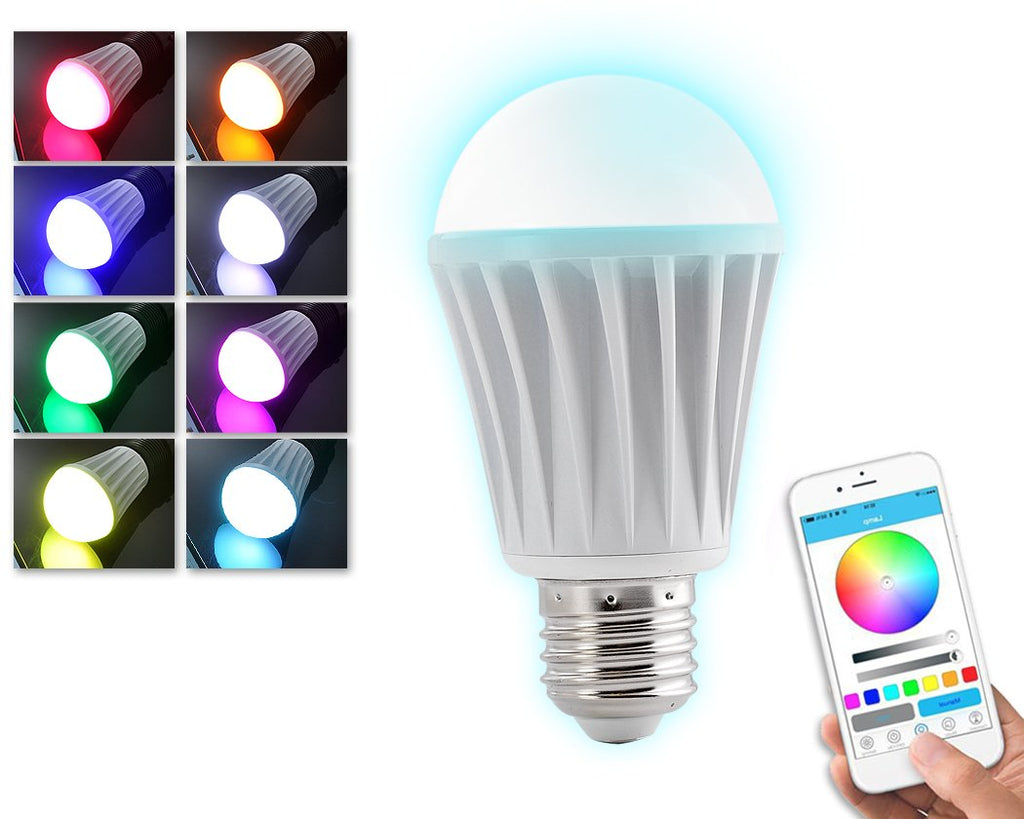 Bluetooth Smart LED Light Bulb Smartphone Controlled Dimmable Light