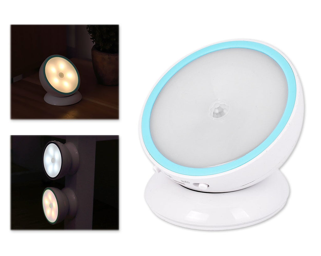 360 Rotating LED Light with Motion Sensor and Magnet Base