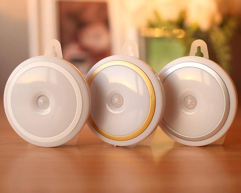 Round Series AAA Battery Operated LED Light with Motion Sensor - White