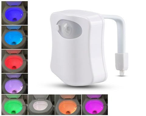 8 Colors Changing Toilet Bowl Light with Motion Sensor