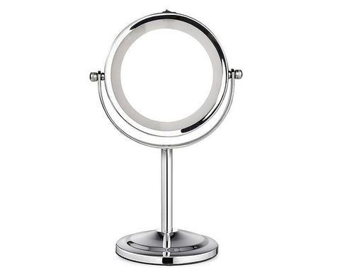 3x Magnifying Double Sided LED Makeup Mirror with Stand