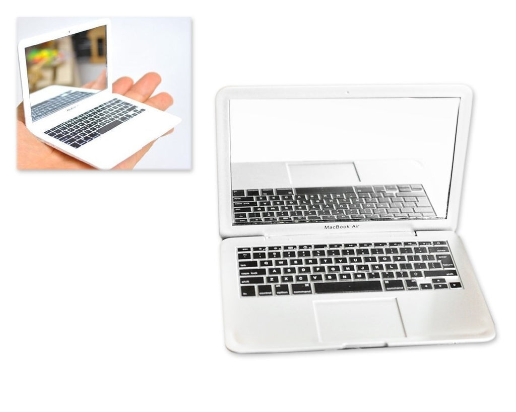 MacBook Air Design Portable Pocket Make Up Mirror - White