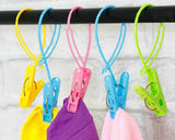 6 Pcs Portable Plastic Security Strap Clothes Hanger Hanging Clips