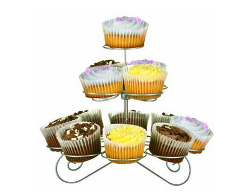 13 Rings 3 Layers Metal Tree Tower Cupcake Stand