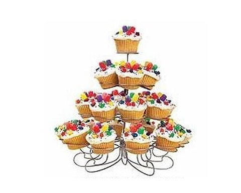 23 Rings 4 Layers Metal Tree Tower Cupcake Stand