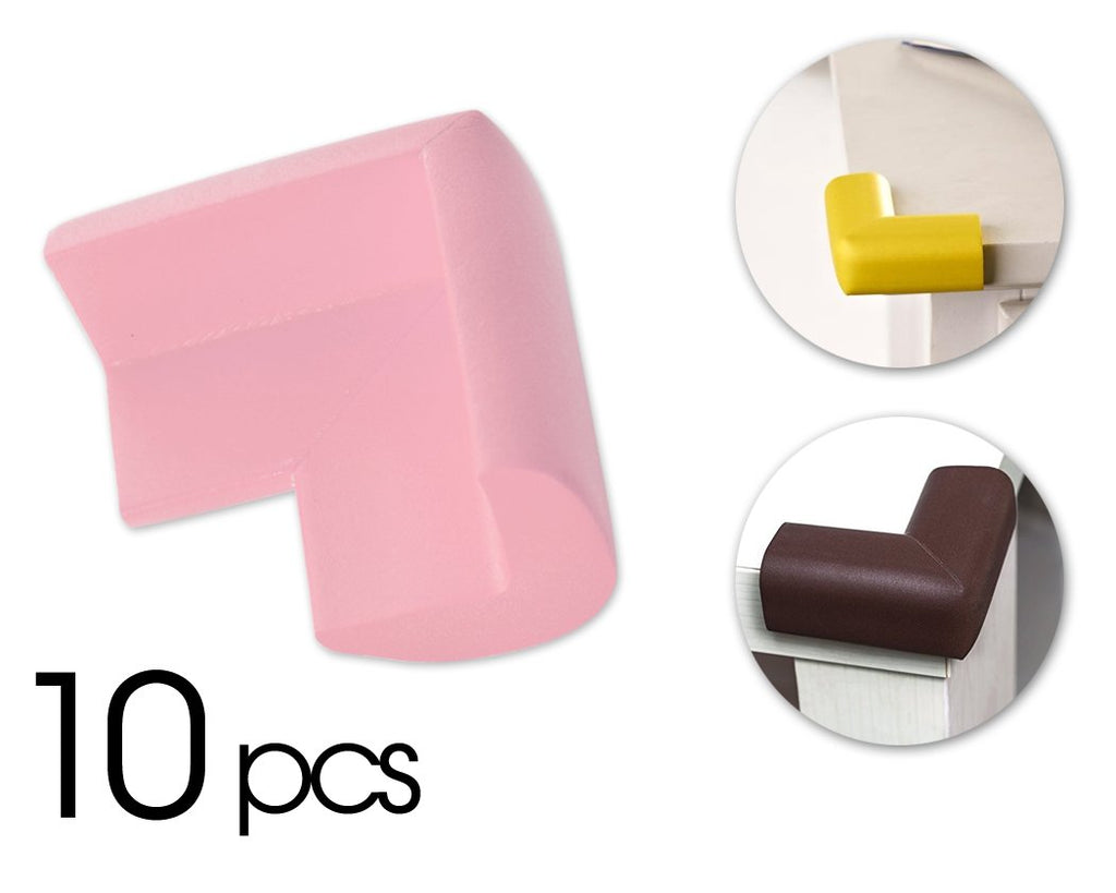 10 Pcs Child Furniture Safety Corner Guards- Pink