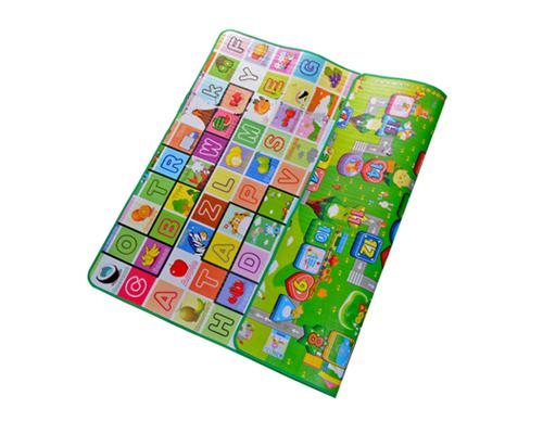 200x180 0.5cm Thick Two Sided Foldable Waterproof Baby Crawling Mat - A