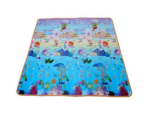 200x180 0.5cm Thick Two Sided Foldable Waterproof Baby Crawling Mat - C
