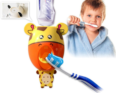 Creative Cute Cartoon Toothpaste Dispenser - Giraffe
