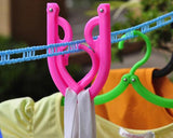 5 Meters Clothesline with 5 Folded Hangers Set