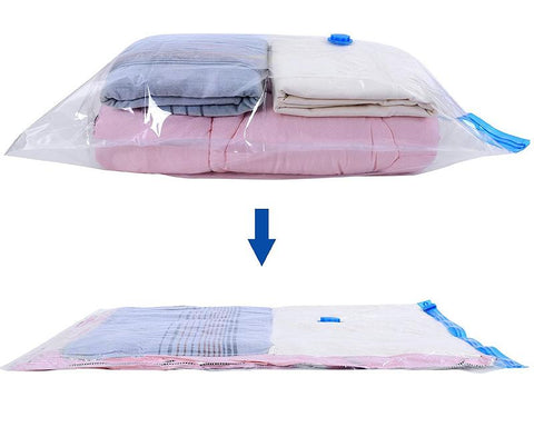 3 Pcs Large Vacuum Compression Bags - Transparent