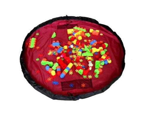 59 inches Extra Large Portable Playing Mat Toy Storage Bag - Red