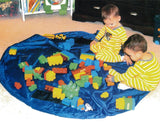 59 inches Extra Large Portable Playing Mat Toy Storage Bag - Blue