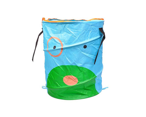 Cartoon Dog Foldable Pop-up Laundry Basket - Blue