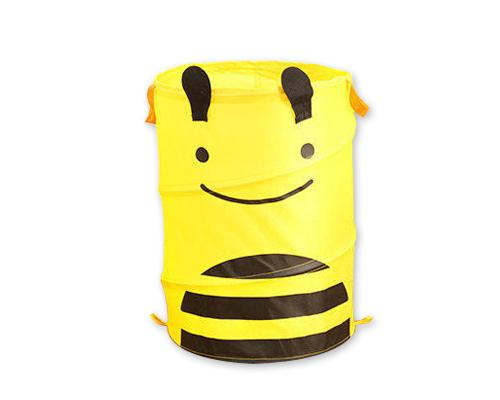 Cartoon Bee Foldable Pop-up Laundry Basket - Yellow