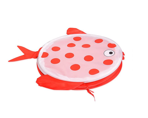 Cartoon Fish Foldable Pop-up Laundry Hamper - Red