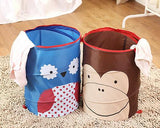 Cartoon Frog Foldable Pop-up Laundry Hamper - Green