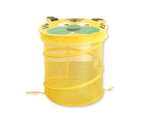 Cartoon Tiger Foldable Pop-up Laundry Hamper - Yellow