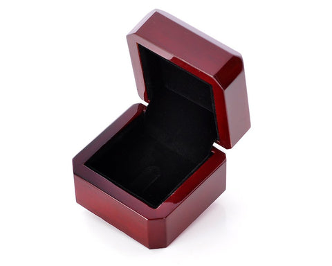 Wood Ring Box - Brown
