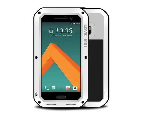 Waterproof Series HTC 10 Metal Case - White