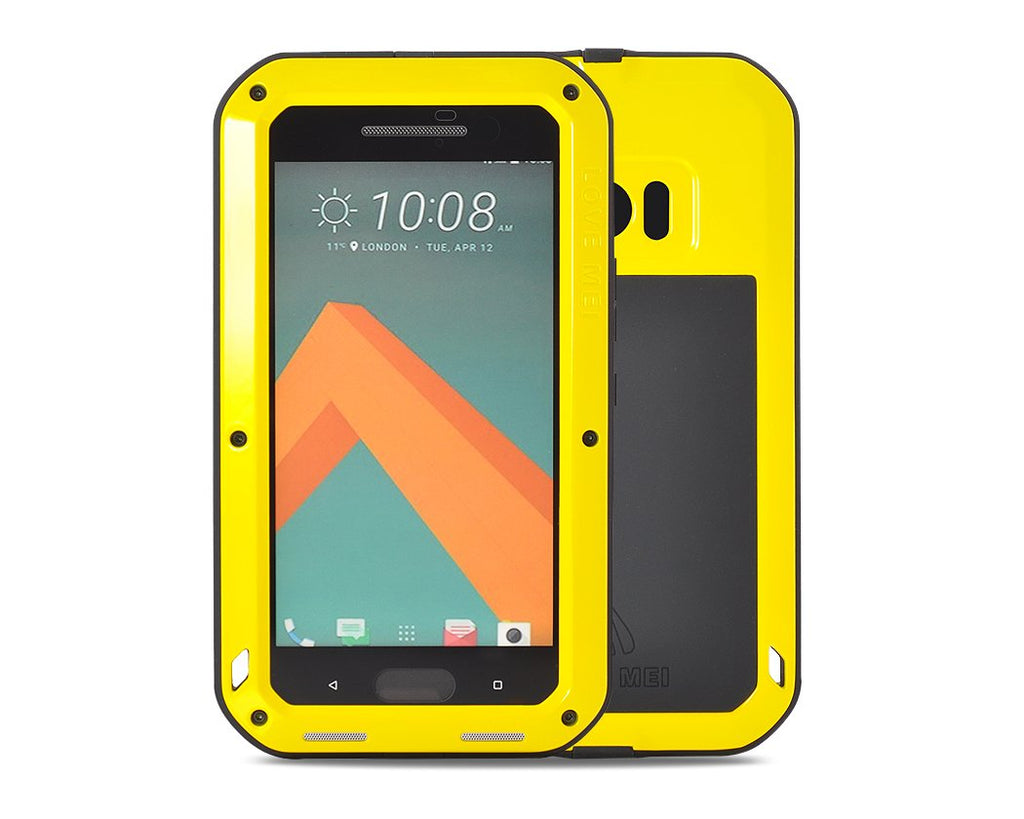Waterproof Series HTC 10 Metal Case - Yellow